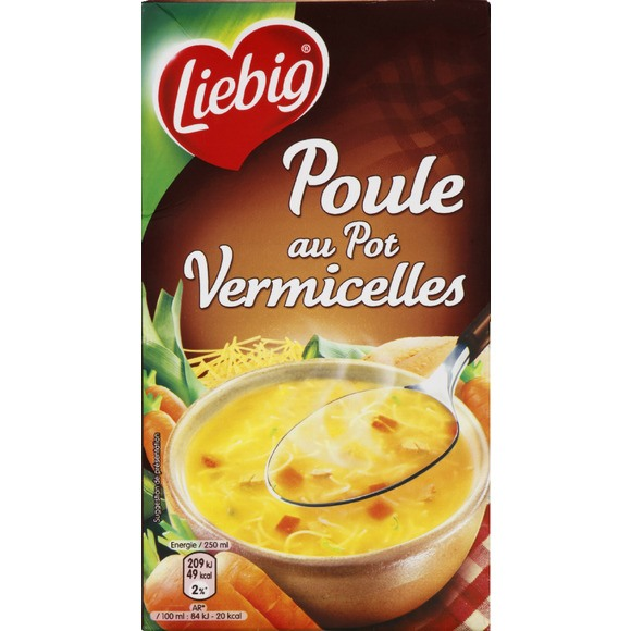 Soupe poule au pot aux vermicelles, Liebig (1 L)