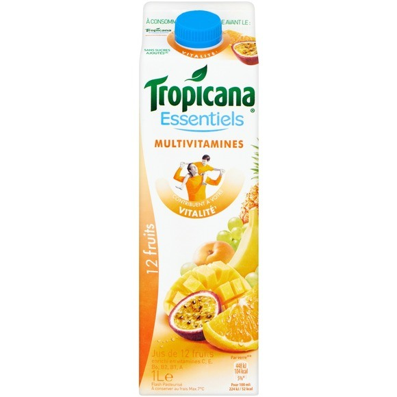 Jus multivitaminé 12 fruits frais, Tropicana (1 L)