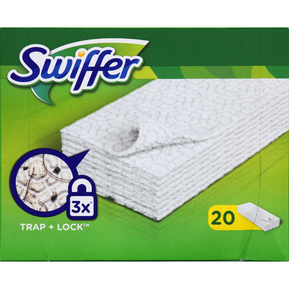 Lingettes Dry Swiffer / recharge (x 20), Swiffer
