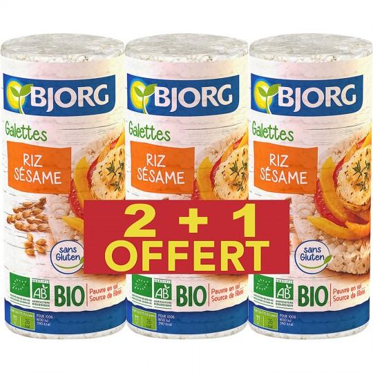 Galette de riz sésame BIO, Bjorg OFFRE SPECIALE 2 + 1 OFFERT (3 x 130 g)