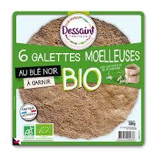 Galette de blé noir BIO, Dessaint (x 6, 280 g)