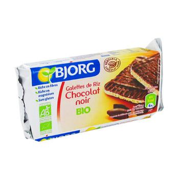 Galette de riz au chocolat noir BIO, Bjorg (100 g)