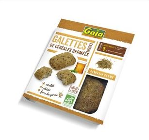 Galettes au sarrasin germé raisins et dattes BIO, Gaia (x 2, 200 g)