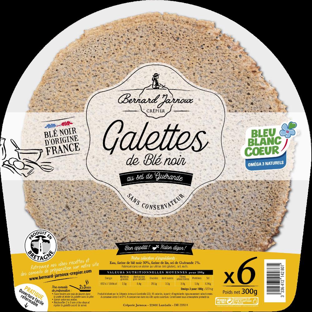 Galettes de blé noir, Bernard Jarnoux (x 6, 300 g)