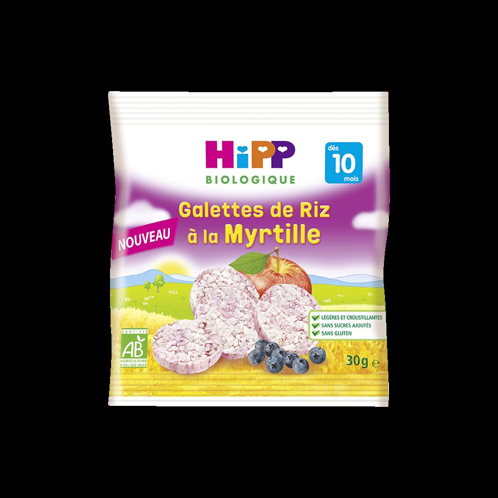 Galettes de riz à la myrtille BIO - dès 10 mois, Hipp (30 g)