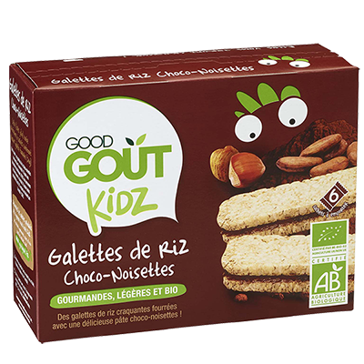 Galettes de riz Choco Noisette BIO - dès 3 ans, Good Goût Kid'z (120 g)