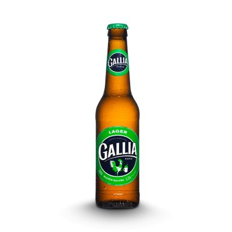 Lager Bière blonde maltée, Gallia (33 cl)