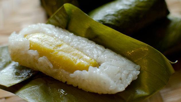 Gateau de riz à la banane vapeur, Yuelan (100 g)