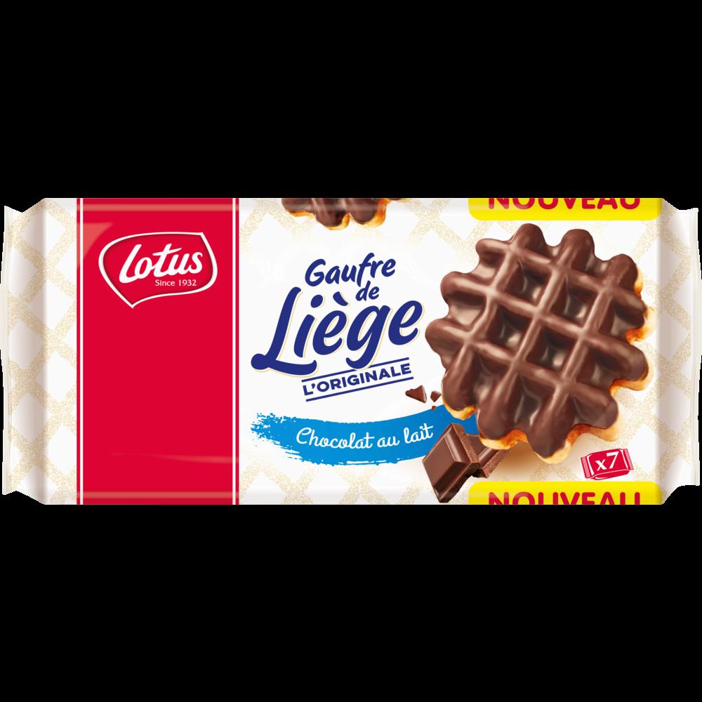 Gaufre de Liège chocolat au lait, Lotus Bakerie (7 x 1 pièce, 363 g)