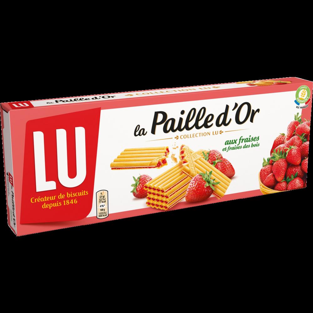 Biscuit Paille d'or fraises et fraises des bois, Lu (170 g)