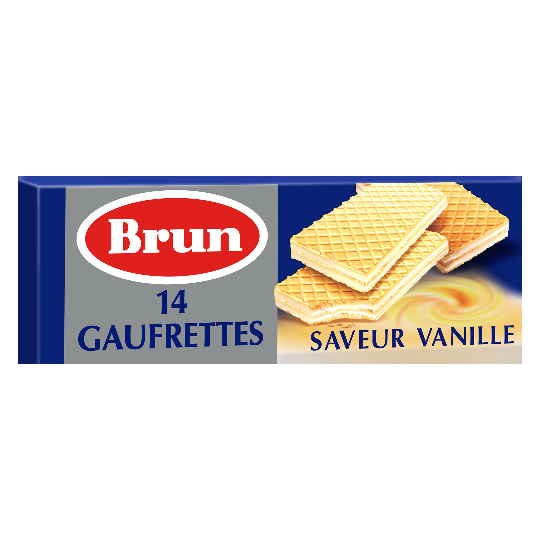 Gaufrettes saveur vanille, Brun (146 g)