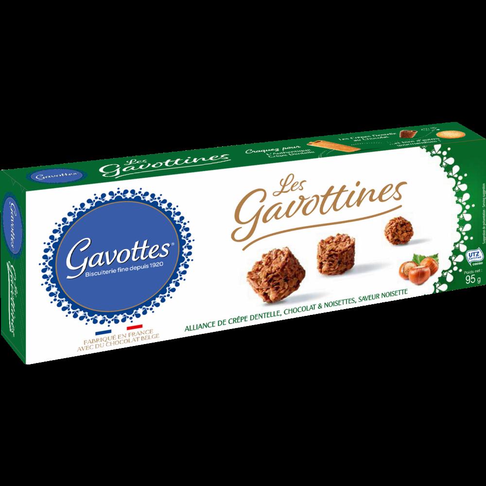 Biscuits chocolat et noisette Les Gavottines, Gavottes (95 g)