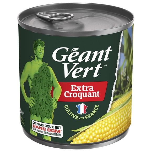 Mais Extra Croquant sans sucre ajouté, Géant Vert (285 g)