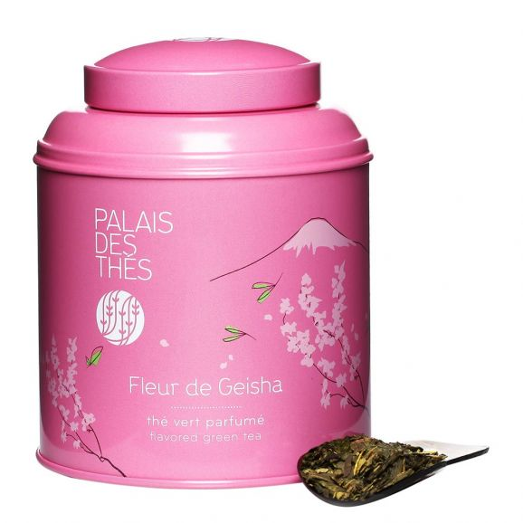 Thé vert Fleur de Geisha - boîte colorée, Palais des Thés (100 g)
