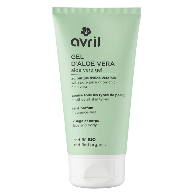 Gel d'aloe vera certifié BIO, Avril (150 ml)