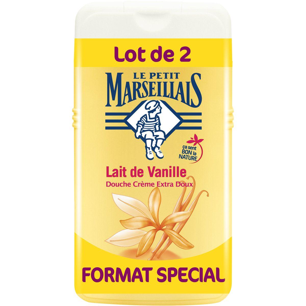 Gel douche à la vanille, Le Petit Marseillais LOT DE 2 (2 x 250 ml)