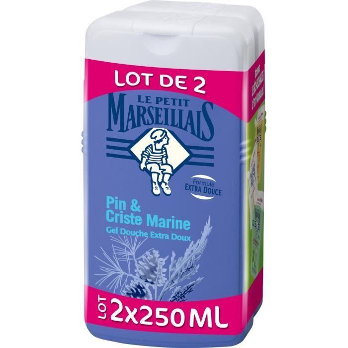 Gel douche au pin et à la criste marine, Le Petit Marseillais / LOT DE 2 (2 x 250 ml)
