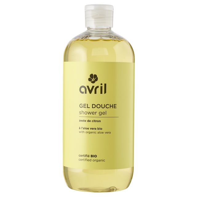 Gel douche zeste de citron certifié BIO, Avril (500 ml)
