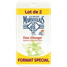 Gel douche extra doux fleur d'oranger, Le Petit Marseillais LOT DE 2 (2 x 250 ml)