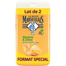 Gel douche extra doux verveine et citron, Le Petit Marseillais LOT DE 2 (2 x 250 ml)