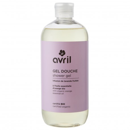Gel douche infusion de lavande fruitée certifié BIO, Avril (500 ml)