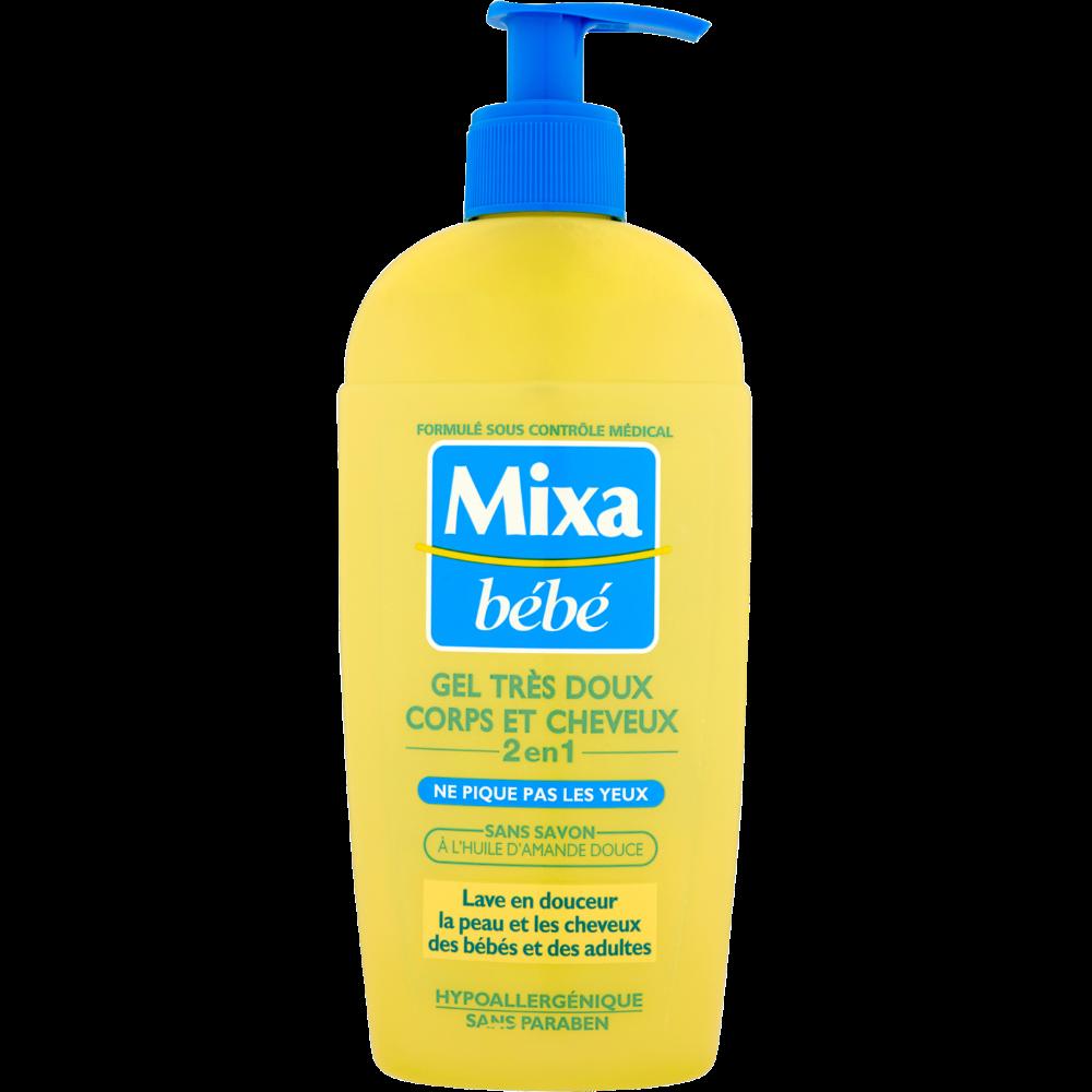 Gel lavant 2 en 1 corps et cheveux, Mixa Bébé (250 ml)