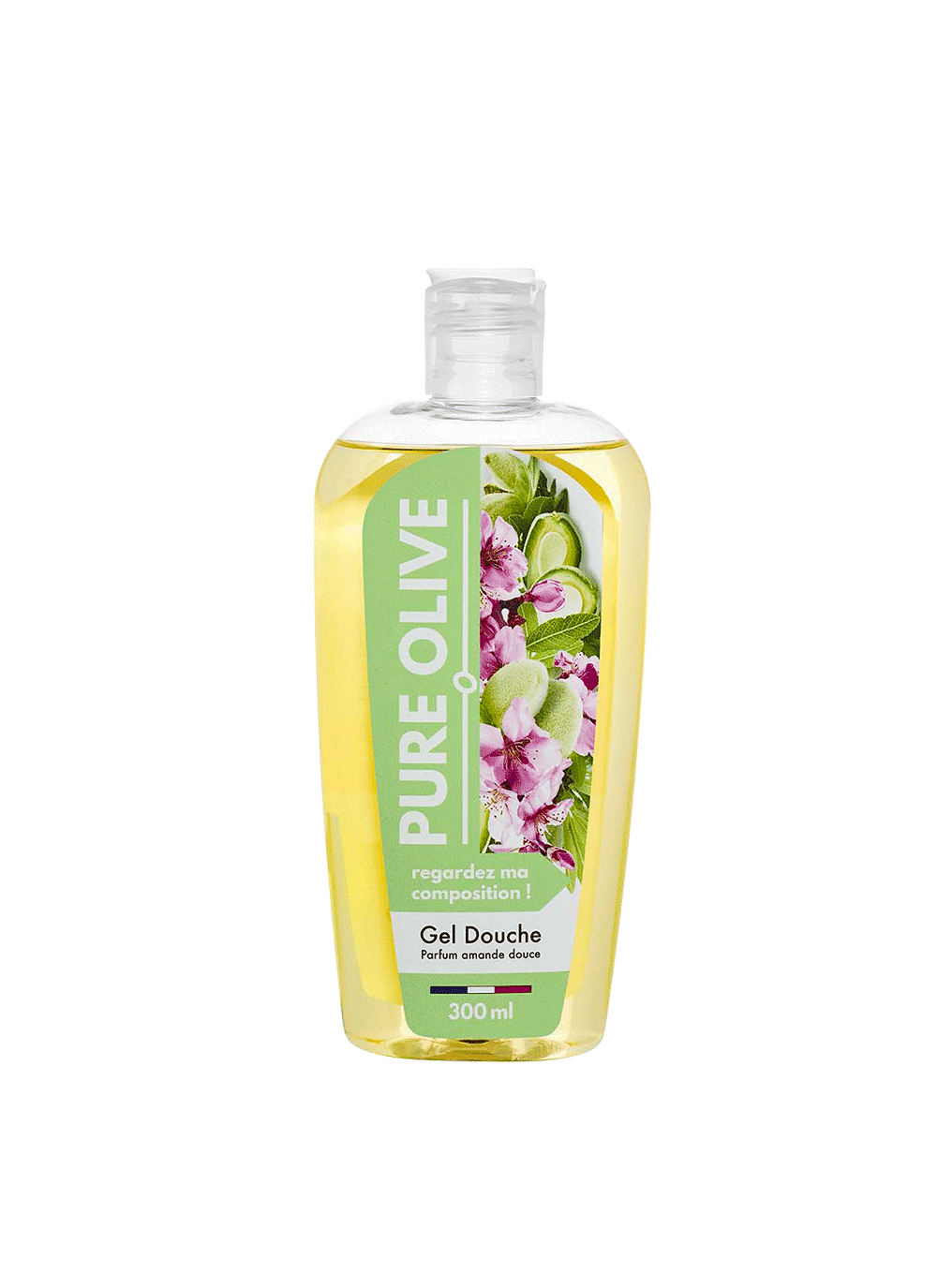 Gel douche Amande Douce, Pure Olive (300 ml)