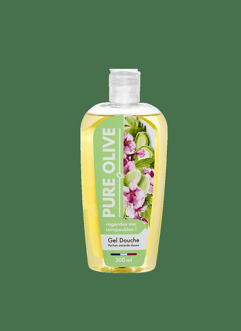 Gel douche Amande Douce, Pure Olive (300 ml)