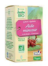 Gélules végétales Aide minceur - Guarana Artichaut BIO (x 40)