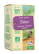 Gélules végétales Détox - Artichaut Bouleau Chlorelle BIO (x 40)