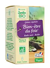 Gélules végétales Bien-être du foie - Radis noir Boldo BIO (x 40)