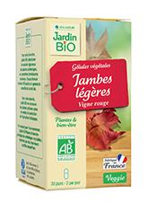 Gélules végétales Jambes légères - Vigne rouge BIO (x 40)