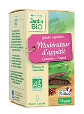 Gélules végétales Modérateur d'appétit - Nopal Caroube BIO (x 40)