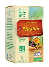 Gélules végétales Vitalité - Ginseng, Gelée royale BIO (x 30)