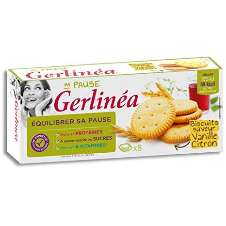 Biscuit régime Citron Vanille, Gerlinea (156 g)