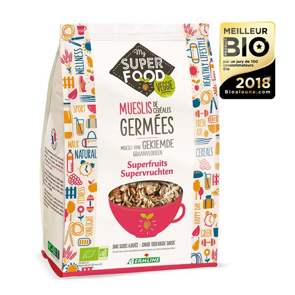Muesli céréales germées superfruits BIO, Germline (350 g)