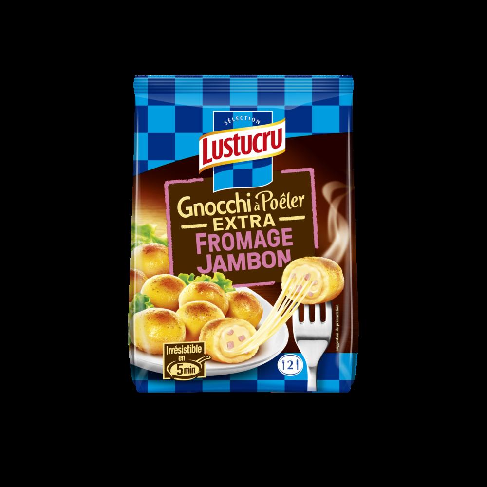 Gnocchi à poêler extra fromage jambon, Lustucru (280 g)