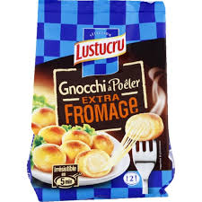 Gnocchi à poêler extra fromage, Lustucru (280 g)