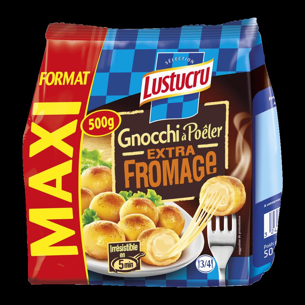 Gnocchi à poêler extra fromage, Lustrucru (500 g)