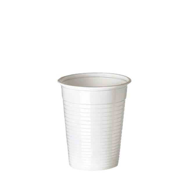 100 gobelets en plastique blanc (20 cl)
