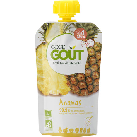 Good Gourde Ananas Bio, Good Goût (120 g) - dès 4 mois