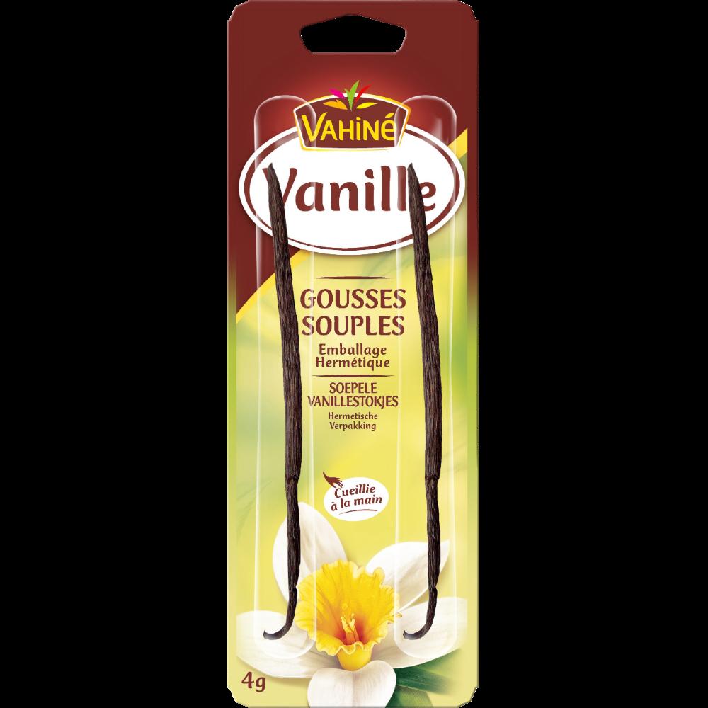Gousses de vanille des îles,Vahiné (x 2, soit 4 g)