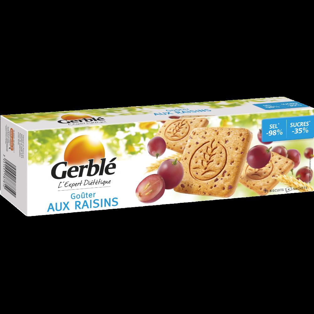 Goûters aux raisins sans sel ajouté, Gerblé (360 g)