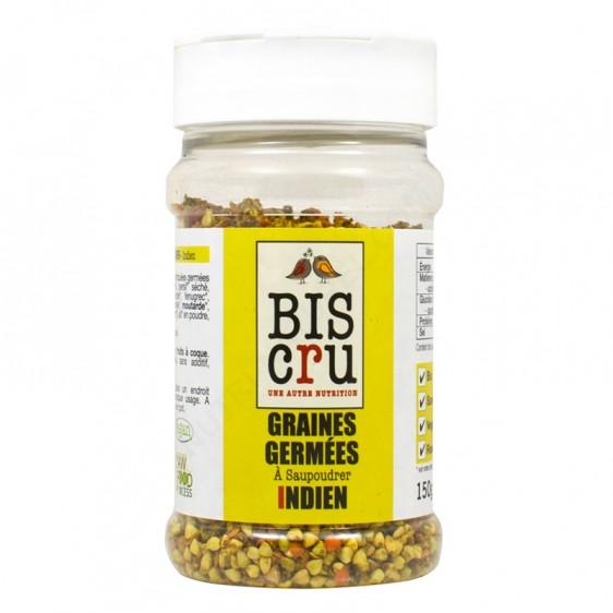 Graines germées à saupoudrer indien BIO, Biscru (150 g)