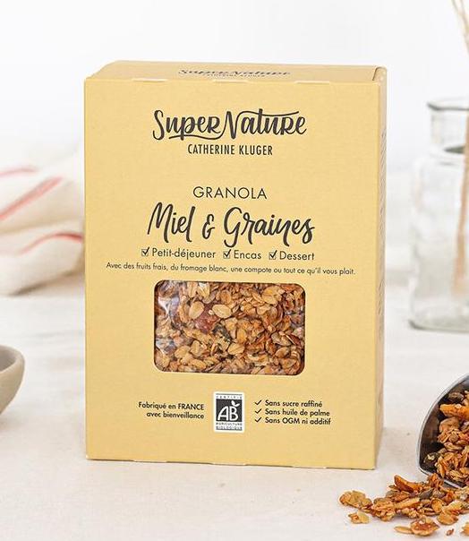 Granola au miel et aux graines BIO, SuperNature (350 g)