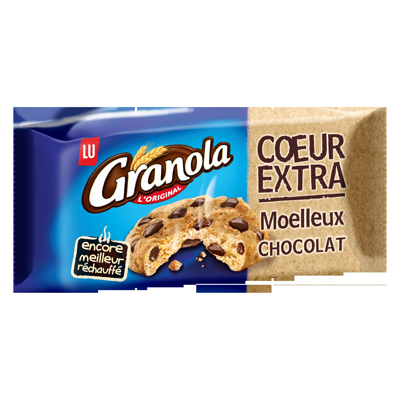 Granola cookie au chocolat coeur extra moelleux, Lu (182 g)