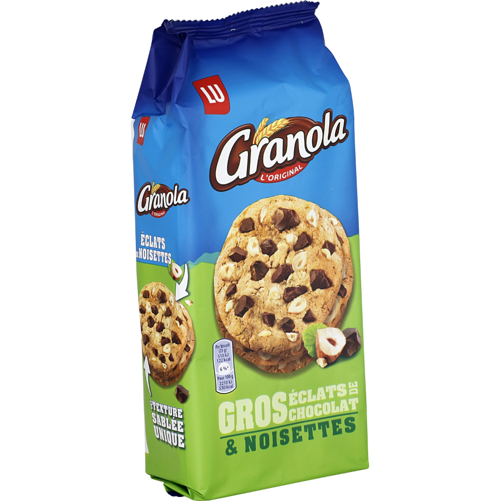 Granola Extra Cookies chocolat noisettes, Lu (184 g)