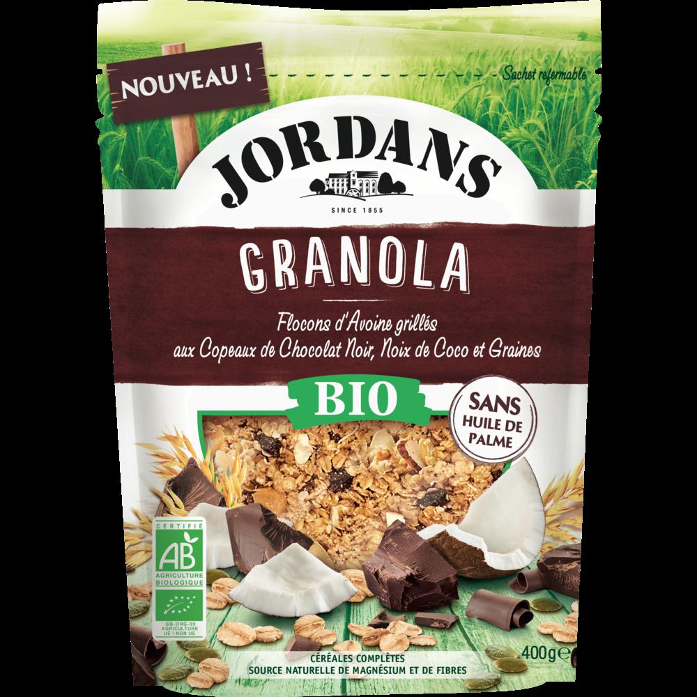 Granola flocons d'avoine chocolat noir et coco BIO, Jordan's (400 g)