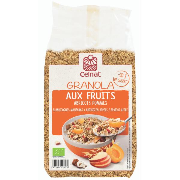 Granola aux fruits abricots-pommes BIO, Celnat (375 g)