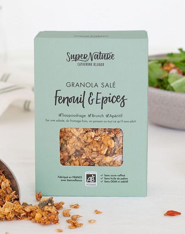 Granola salé au fenouil BIO, SuperNature (160 g)